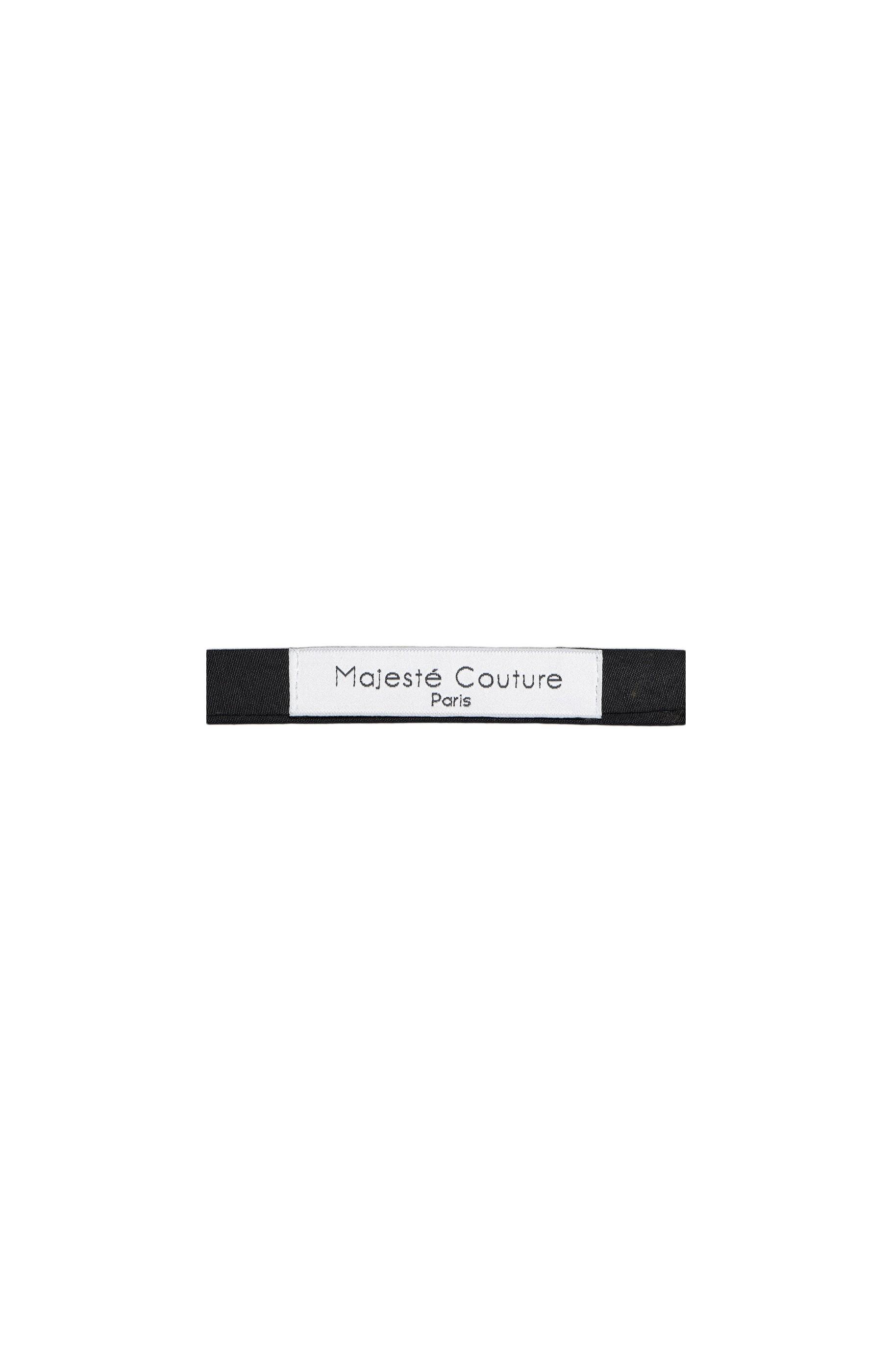 Majesté Couture Paris: Black bow tie | Accessories -  Hiphunters Shop