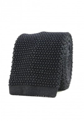 CRAVATE TRICOT NOIR REGULAR