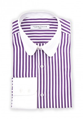 CHEMISE EXCELLENCE LILAS RAYÉE