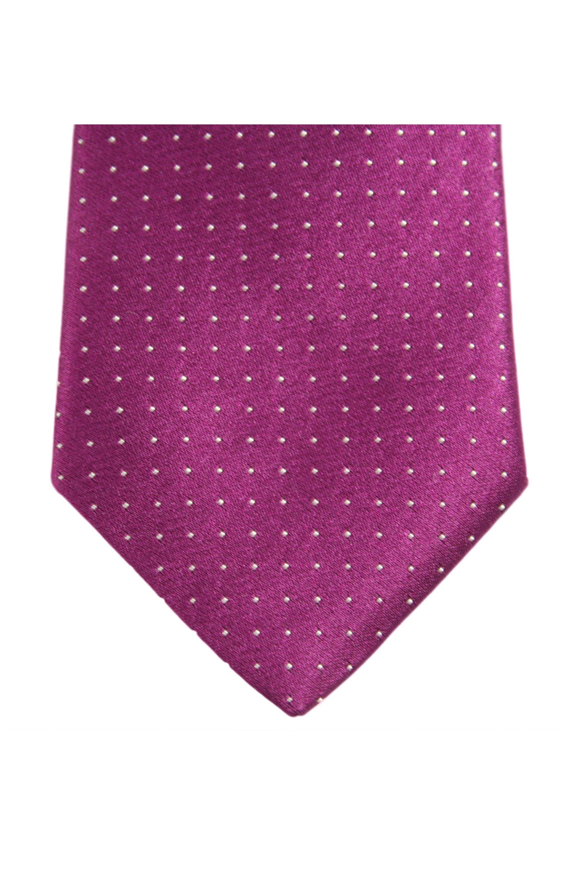 Majesté Couture Paris: Fuchsia tie with white dots | Accessories -  Hiphunters Shop