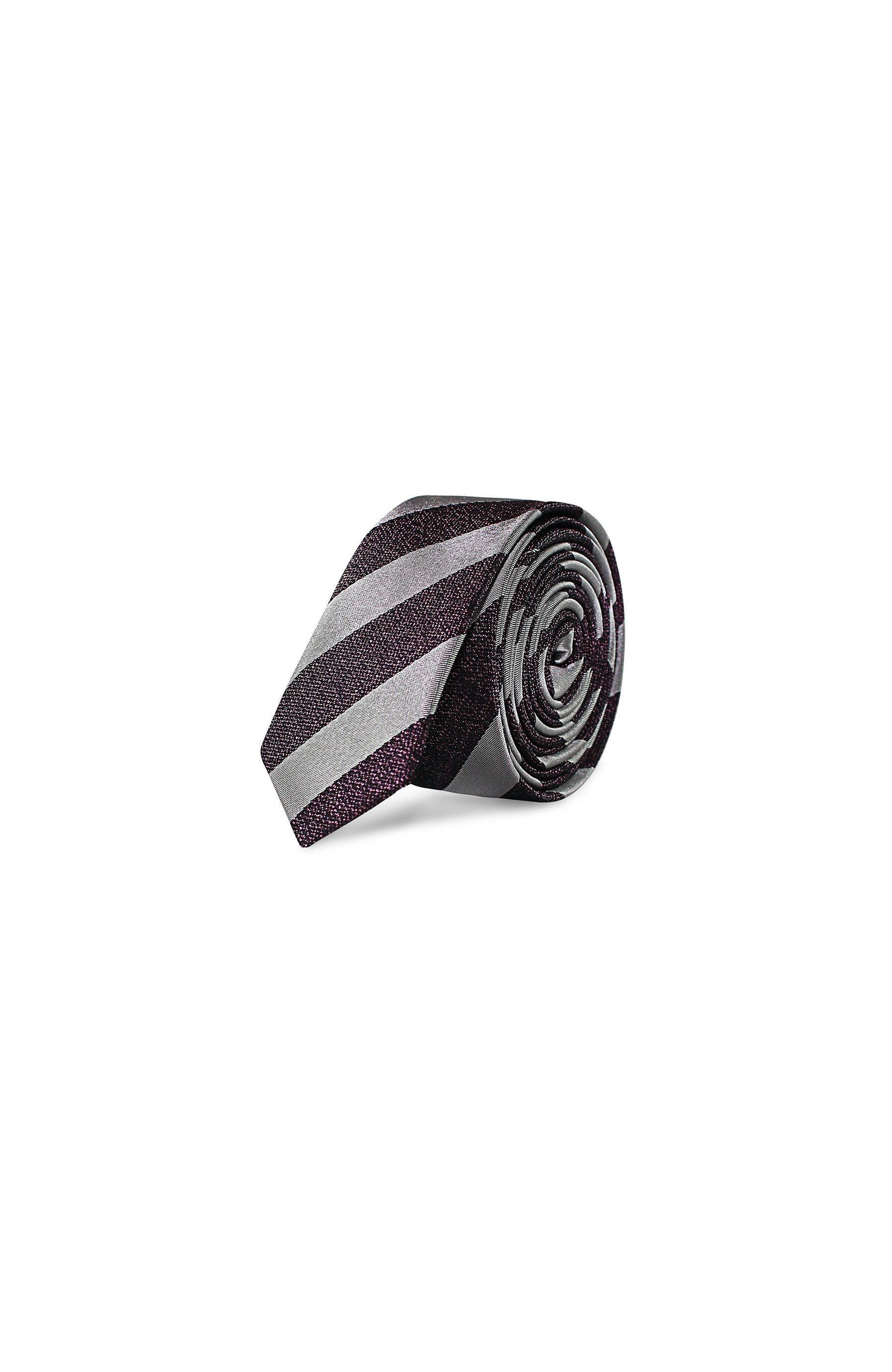 Majesté Couture Paris: Grey slim tie - Hiphunters Shop