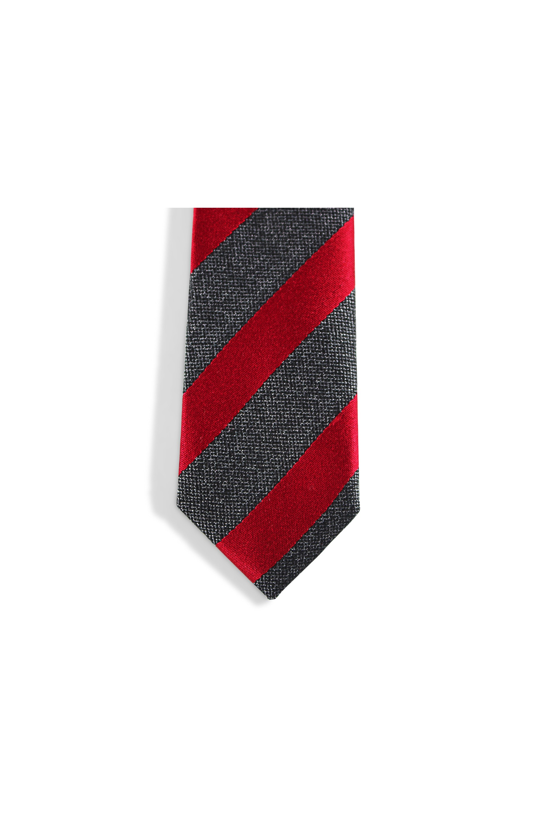 Majesté Couture Paris: Red and grey slim club tie | Accessories -  Hiphunters Shop