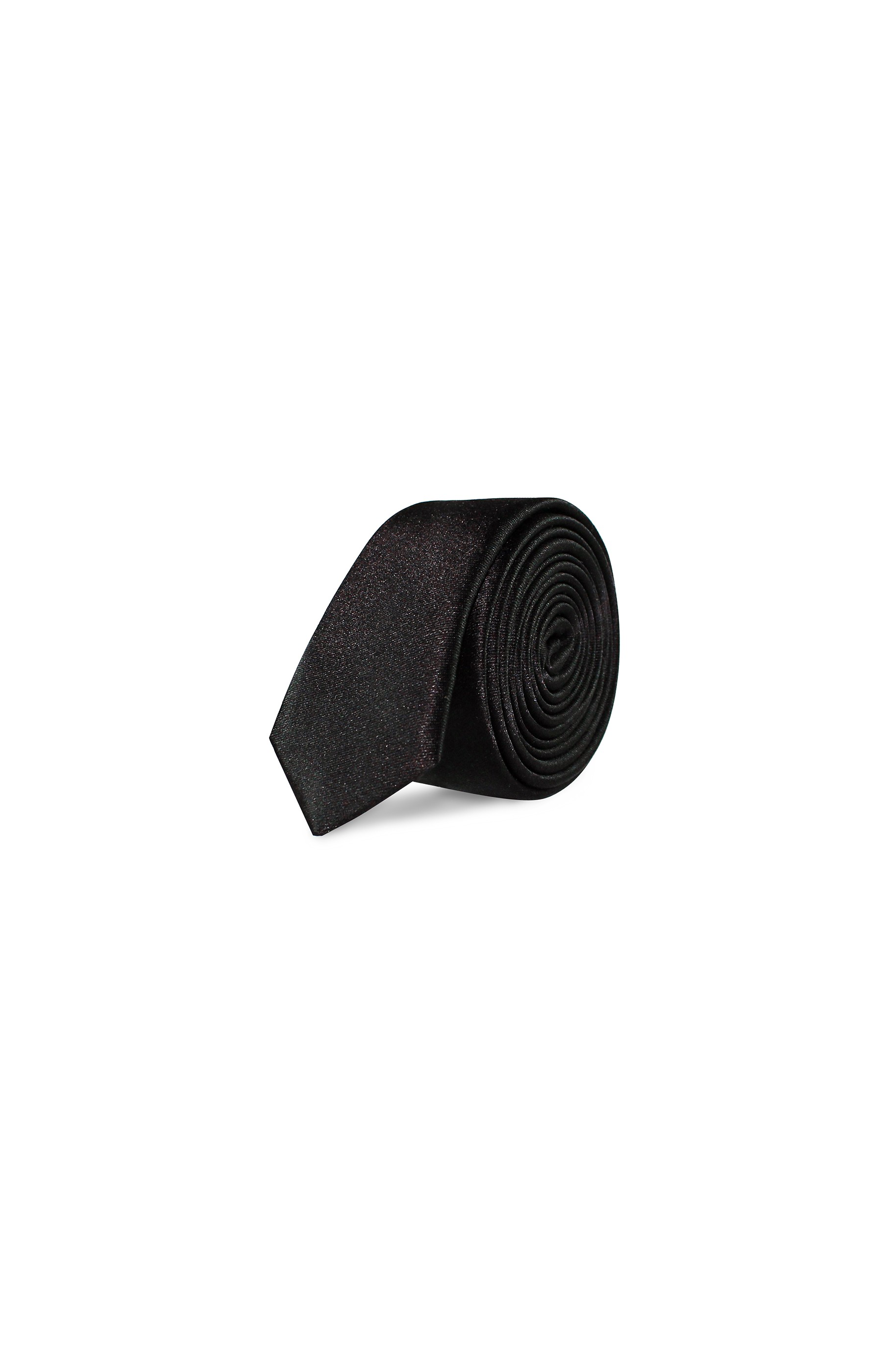 Majesté Couture Paris: Black slim tie | Accessories -  Hiphunters Shop