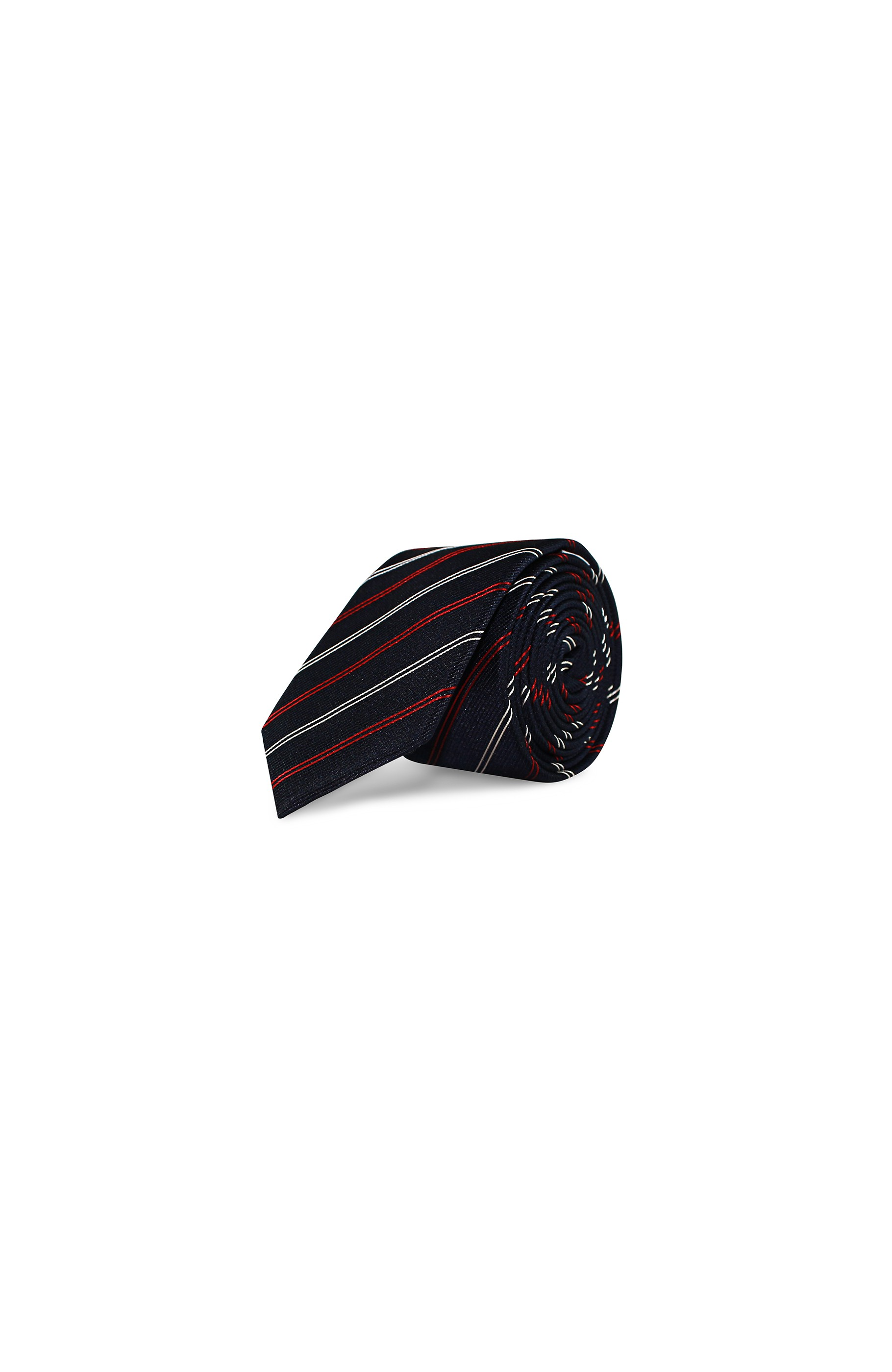 Majesté Couture Paris: Regular oxford navy tie | Accessories -  Hiphunters Shop