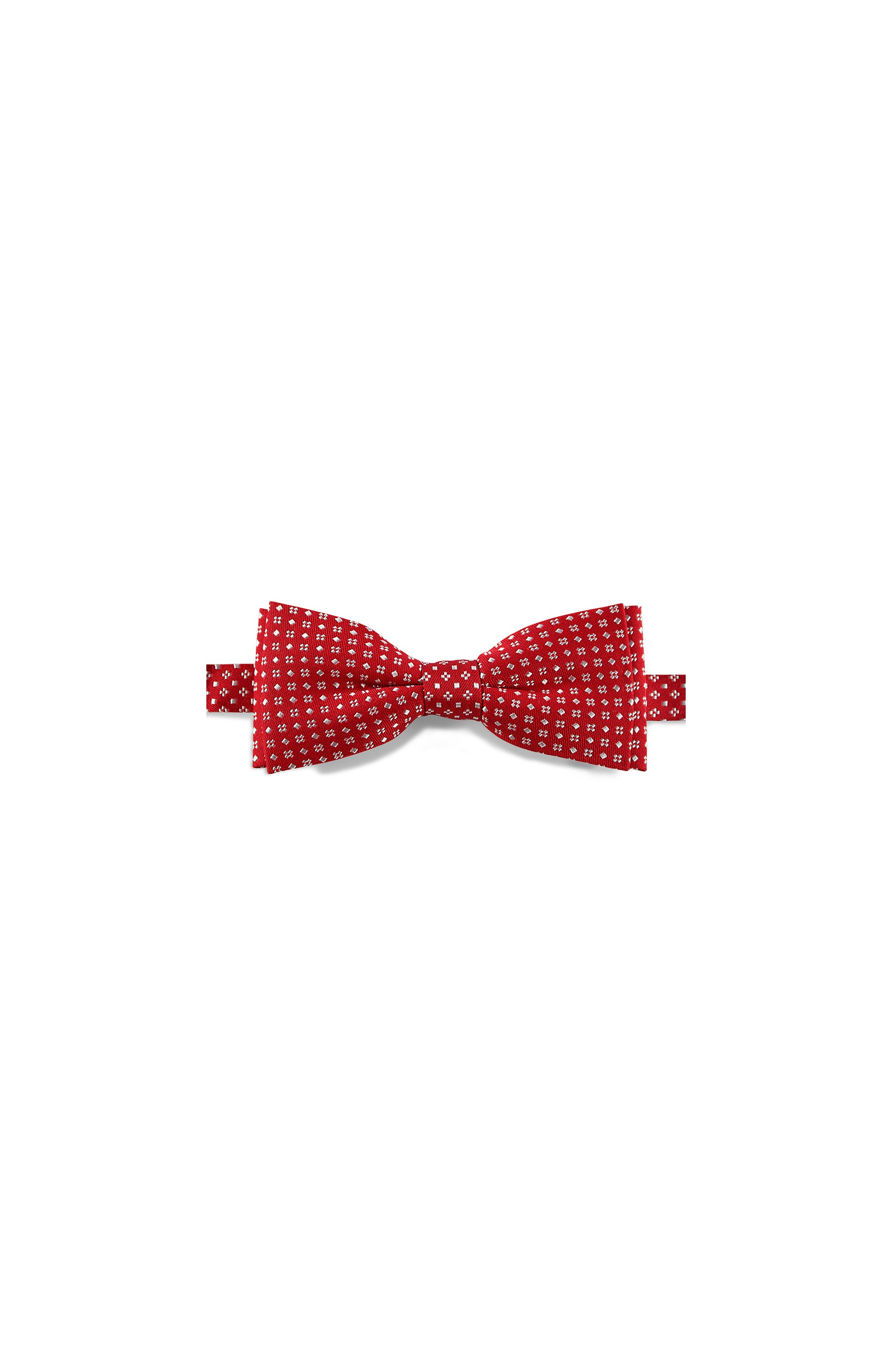 Majesté Couture Paris: Red silk bow tie with white dots | Accessories -  Hiphunters Shop