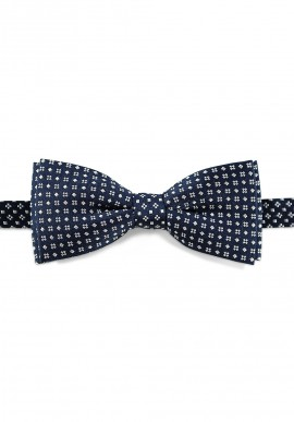 NOEUD PAPILLON SOIE NAVY