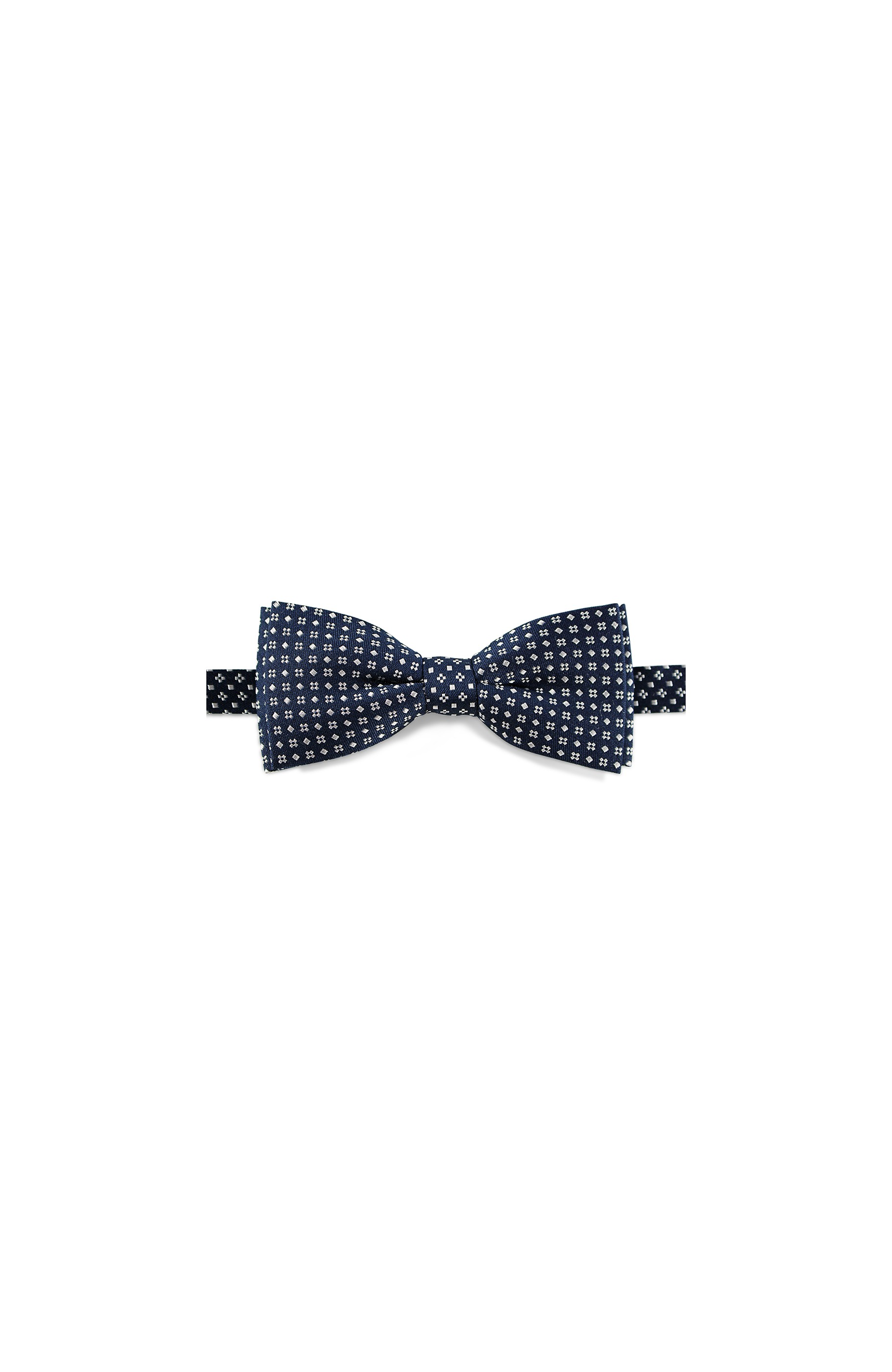 Majesté Couture Paris: Navy silk bow tie with white dots | Accessories -  Hiphunters Shop