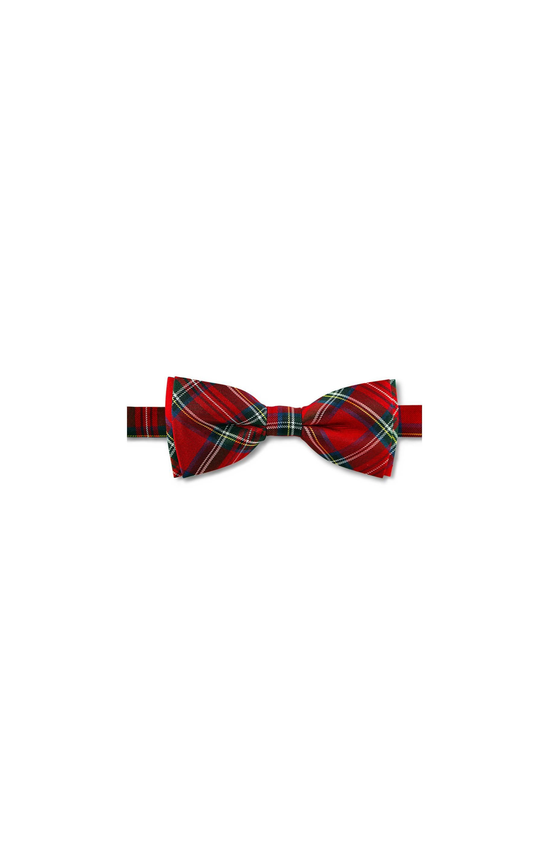 Majesté Couture Paris: Red esossais silk bow tie | Accessories -  Hiphunters Shop