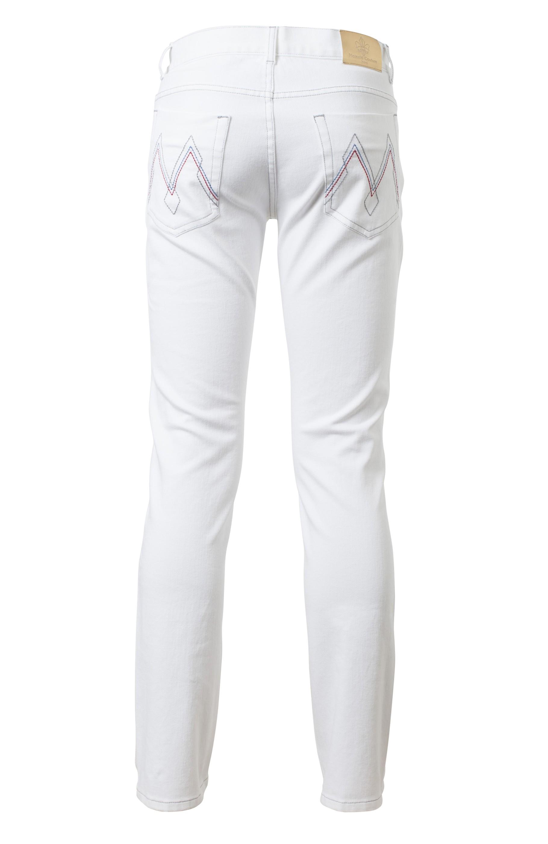 Majesté Couture Paris: MJ-421 WHITE JEANS | Clothing,Clothing > Jeans -  Hiphunters Shop