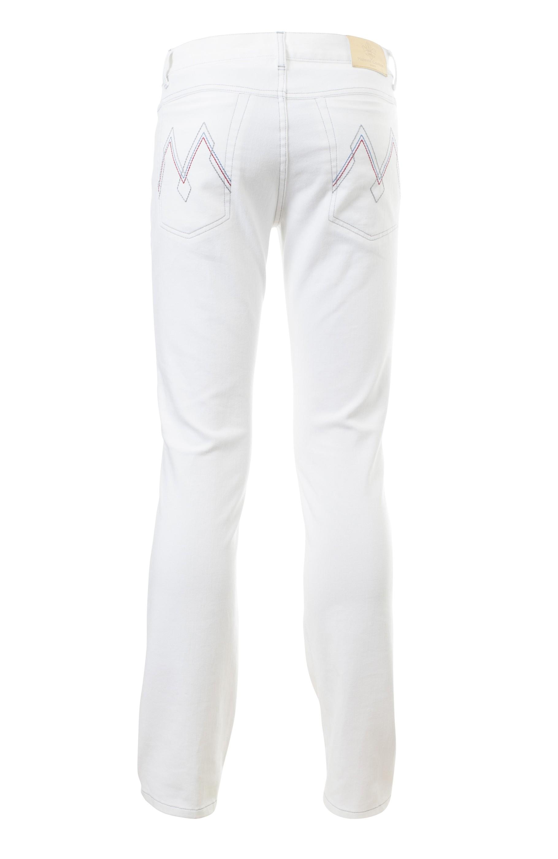 Majesté Couture Paris: MJ-536 WHITE JEANS | Clothing,Clothing > Jeans -  Hiphunters Shop