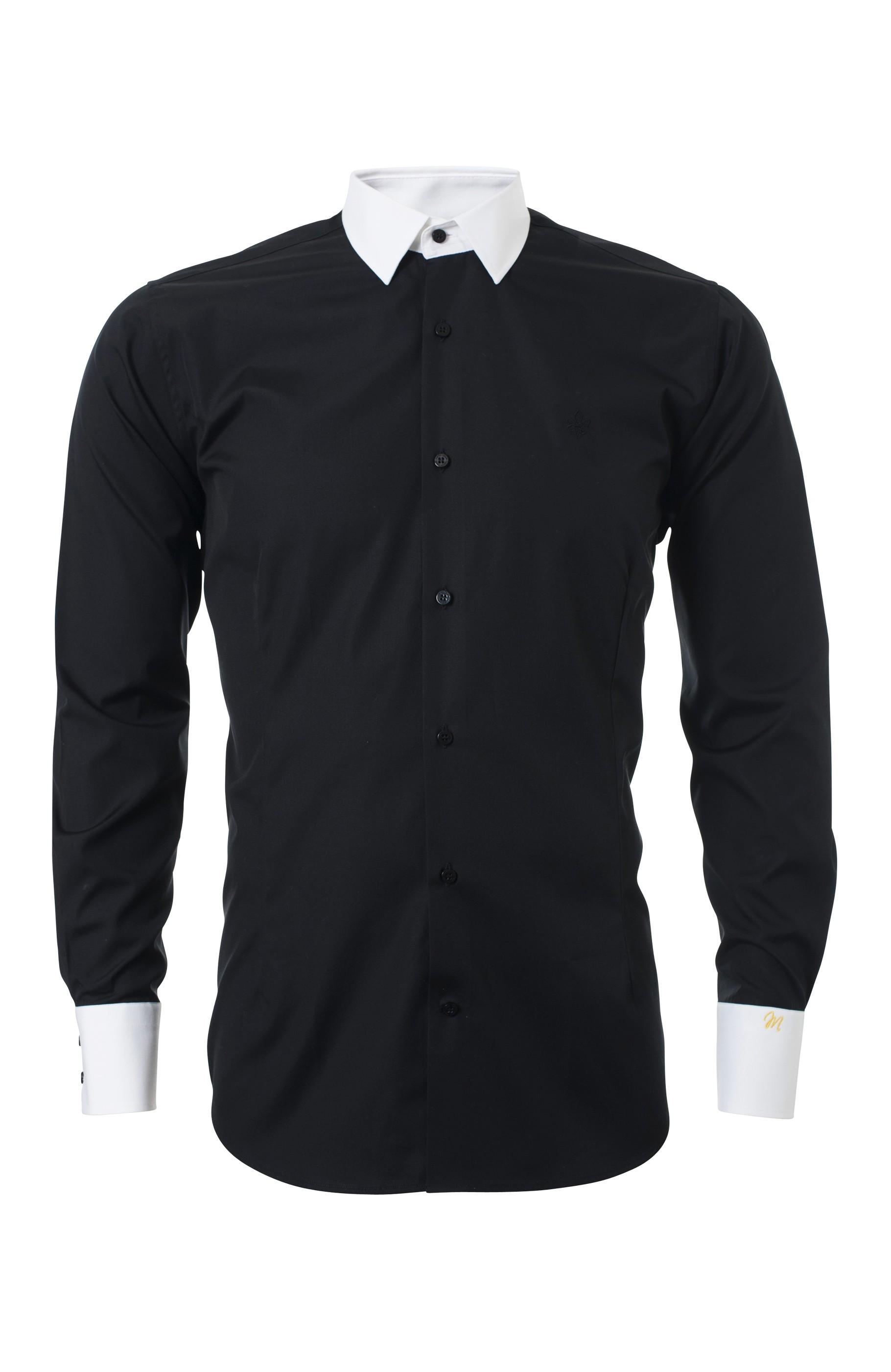 Majesté Couture Paris: BLACK PARIGOTE SHIRT | Clothing,Clothing > Shirts -  Hiphunters Shop