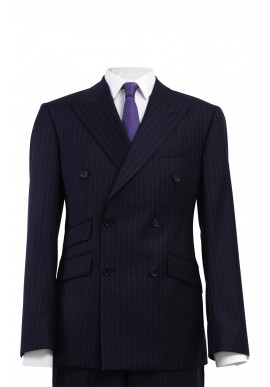 SAINT GERMAIN NAVY DOUBLE-BREASTED SUIT