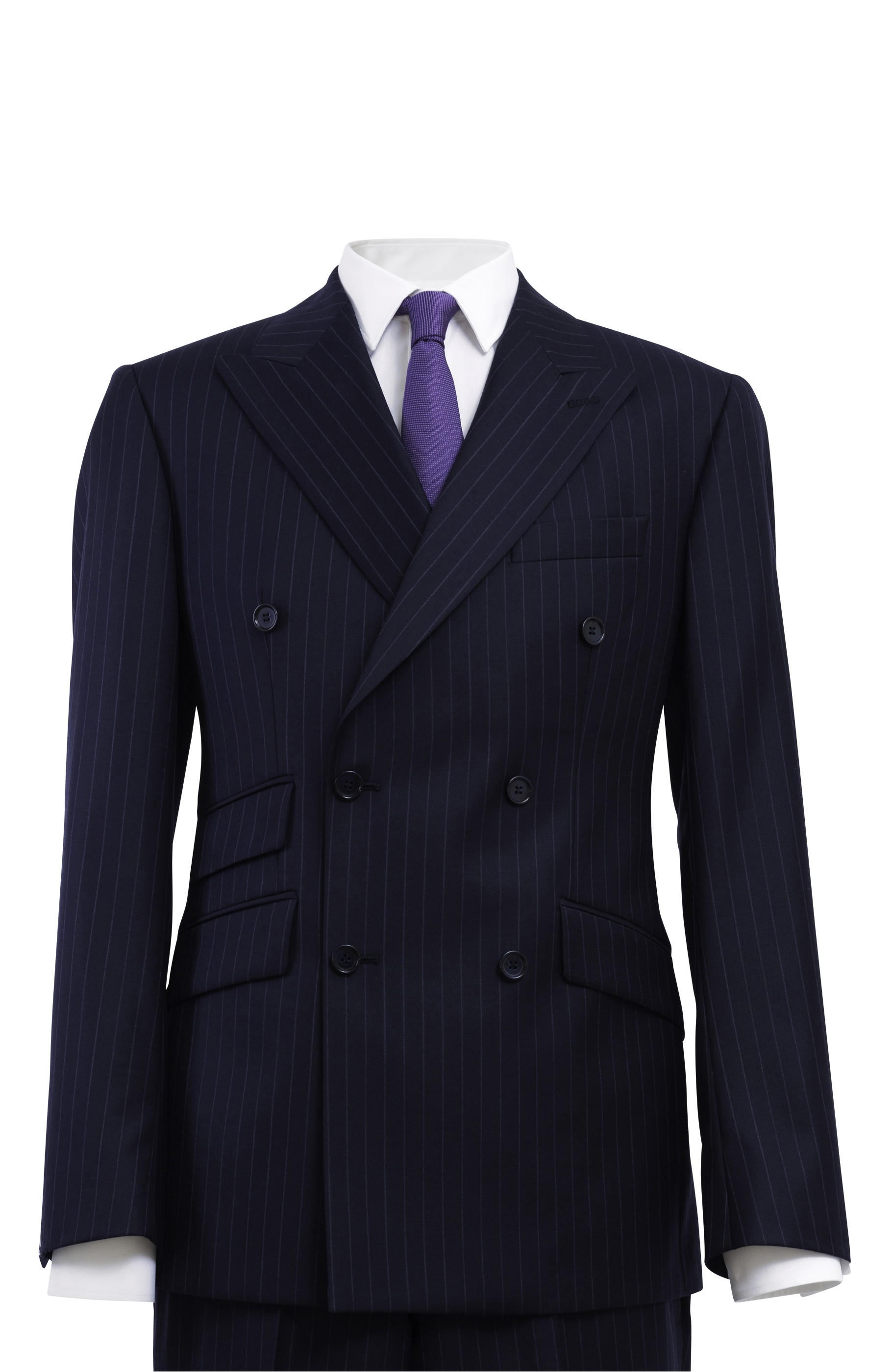 Majesté Couture Paris: SAINT GERMAIN NAVY DOUBLE-BREASTED SUIT - Hiphunters Shop