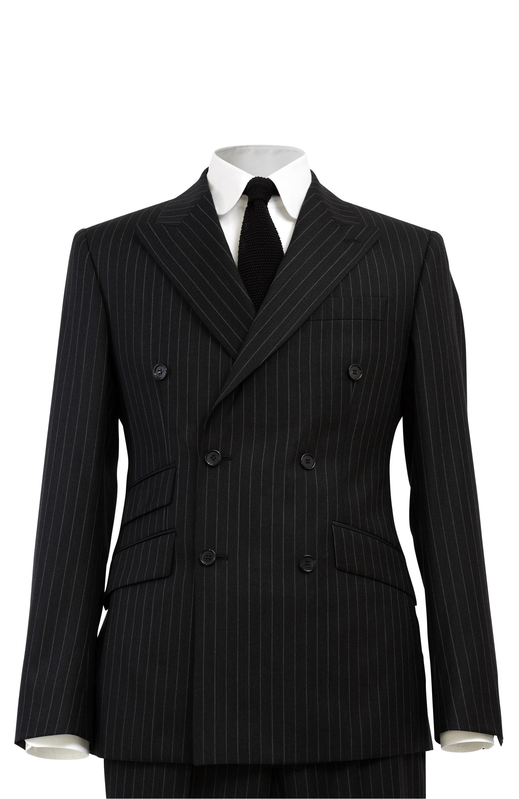Majesté Couture Paris: SAINT GERMAIN GREY DOUBLE-BREASTED WOVEN SUIT | Clothing,Clothing > Suits -  Hiphunters Shop