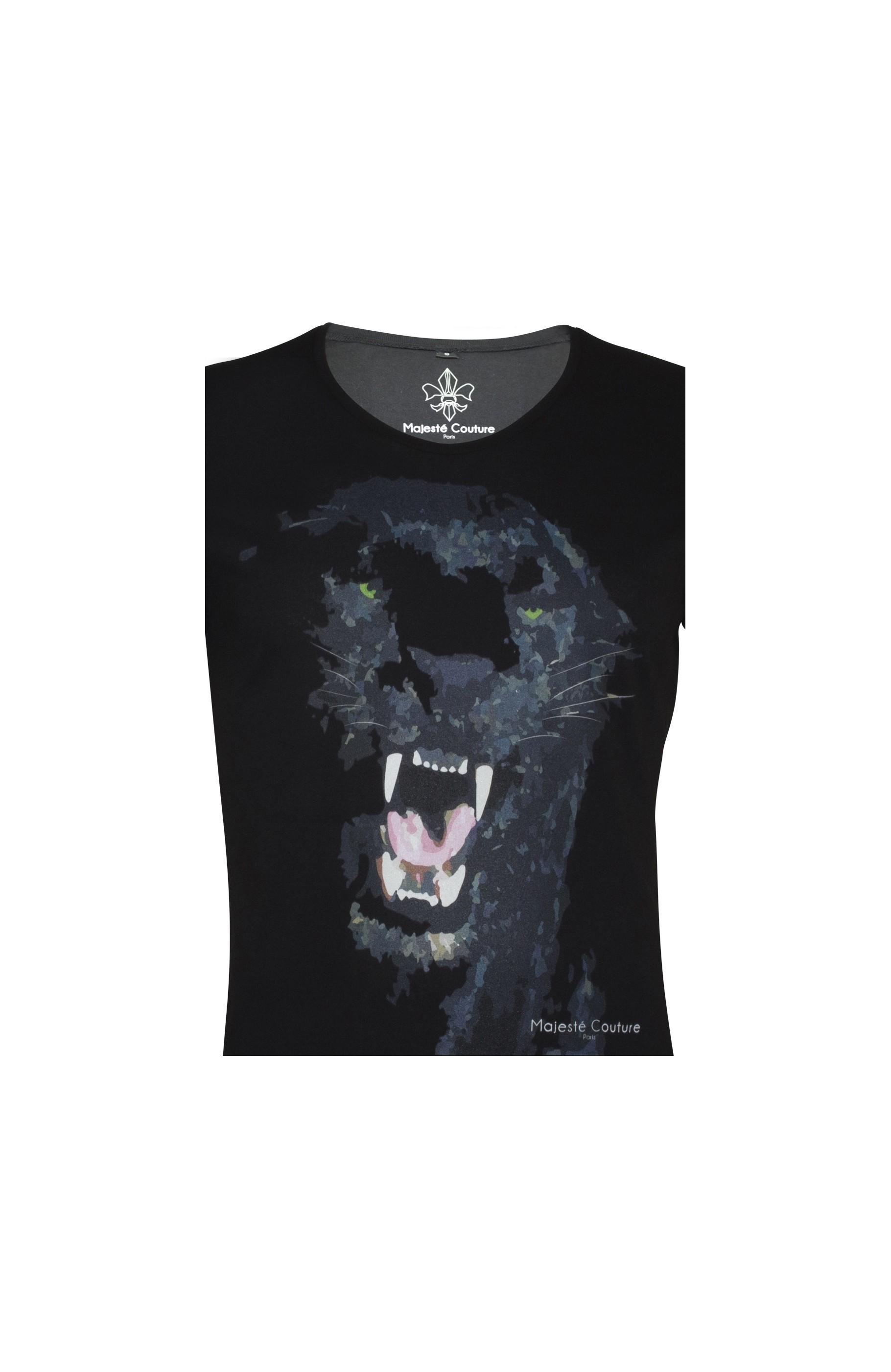 Majesté Couture Paris: PANTHER T-SHIRT | Clothing,Clothing > T-Shirts -  Hiphunters Shop