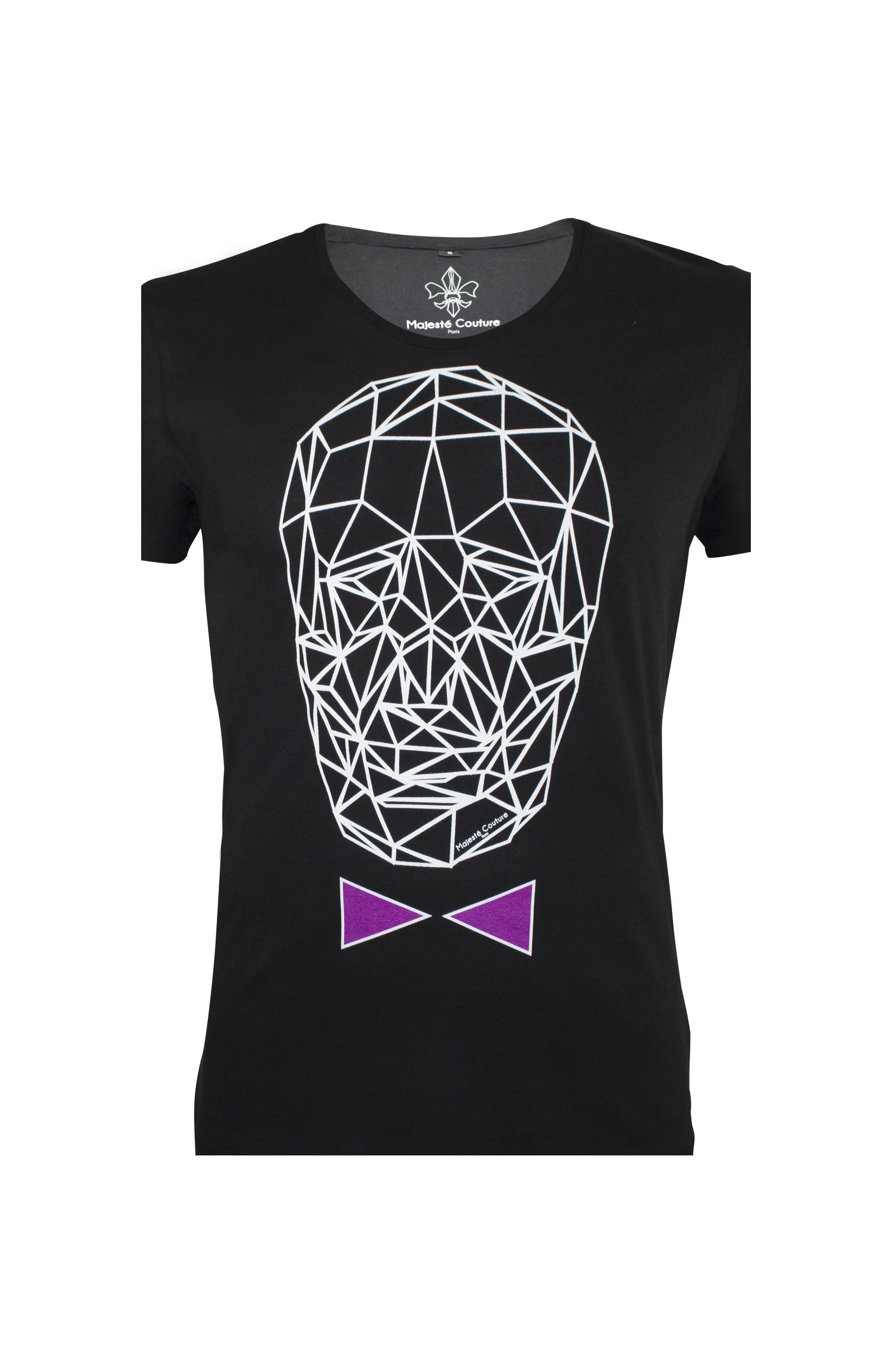 Majesté Couture Paris: BLACK & LILAC GRAPHIC_TDM T-SHIRT   Clothing,Clothing > T-Shirts -  Hiphunters Shop