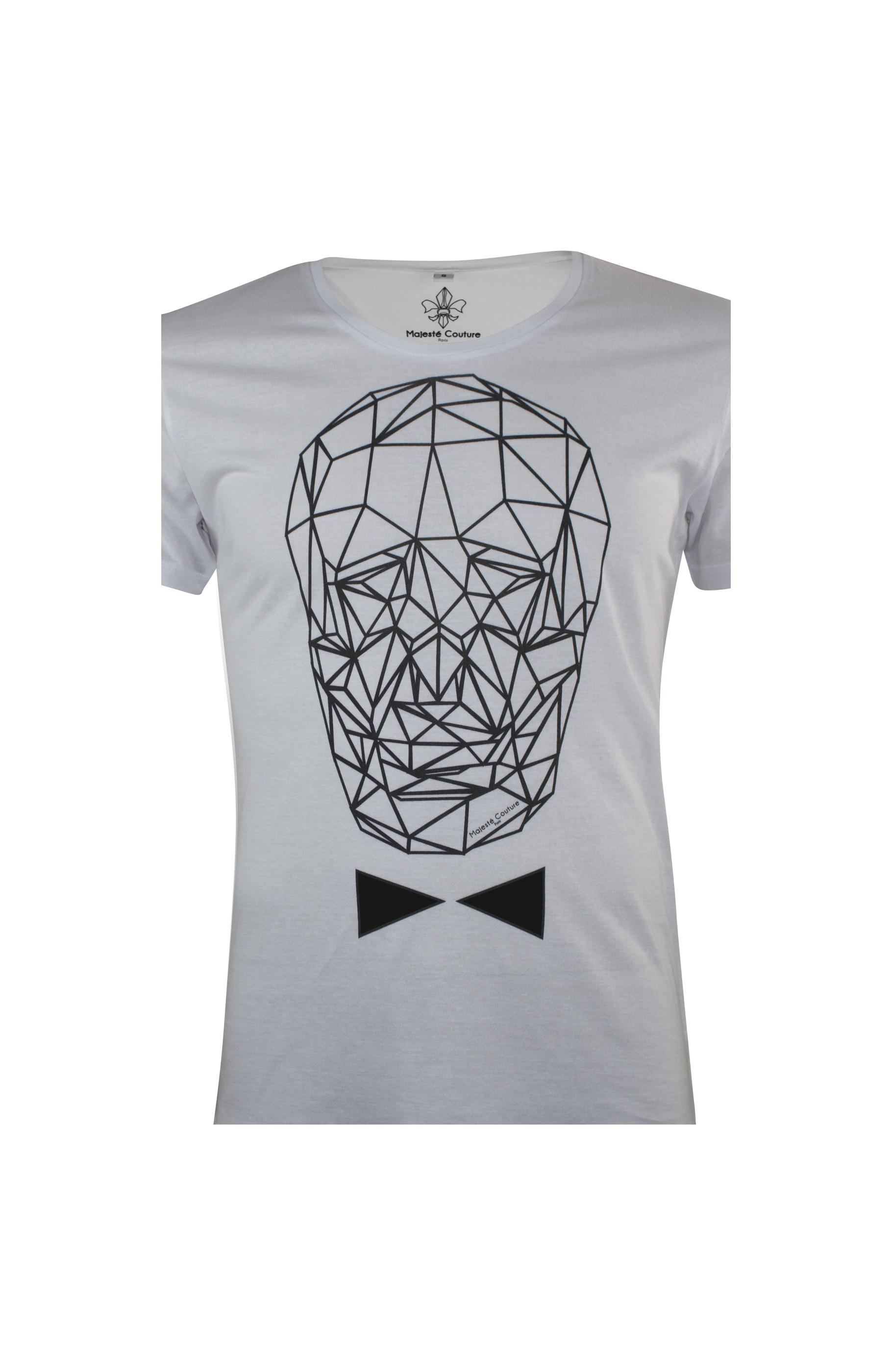Majesté Couture Paris: WHITE & BLACK GRAPHIC_TDM T-SHIRT | Clothing,Clothing > T-Shirts -  Hiphunters Shop