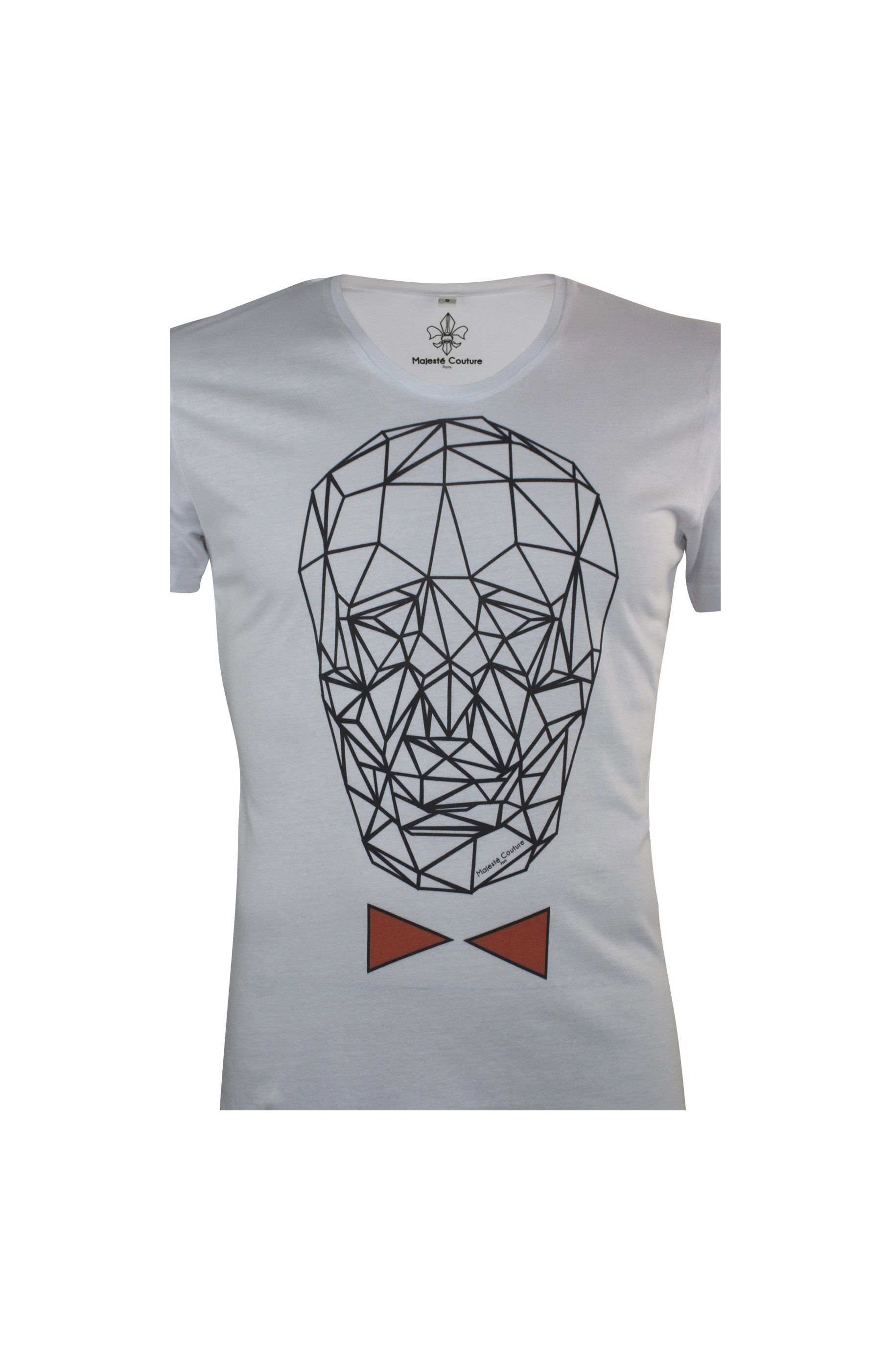 Majesté Couture Paris: WHITE & RED GRAPHIC_TDM T-SHIRT | Clothing,Clothing > T-Shirts -  Hiphunters Shop